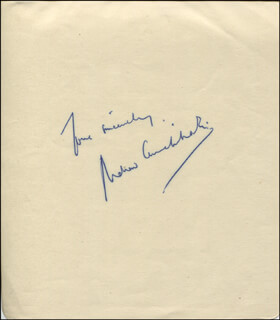 ANDREW CRUICKSHANK - AUTOGRAPH SENTIMENT SIGNED