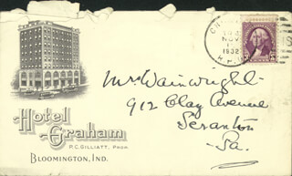 Autographs: SIR NORMAN ANGELL - AUTOGRAPH ENVELOPE UNSIGNED