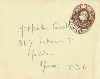 SIR HUGH WALPOLE - AUTOGRAPH ENVELOPE UNSIGNED
