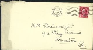 SIR NORMAN ANGELL - AUTOGRAPH ENVELOPE UNSIGNED
