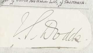 Autographs: SIR JOHN STOKELL DODDS - CLIPPED SIGNATURE
