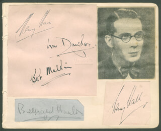 HENRY HALL - AUTOGRAPH CO-SIGNED BY: NONI, ROBERT BOB MELLIN