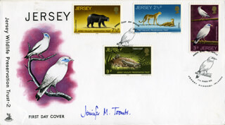 JENNIFER M. TOOMBS - FIRST DAY COVER SIGNED