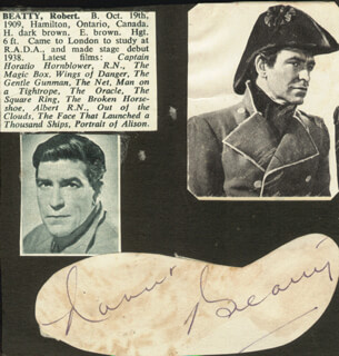 Autographs: ROBERT BEATTY - SIGNATURE(S)