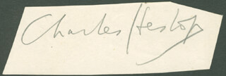 CHARLES HESLOP - AUTOGRAPH