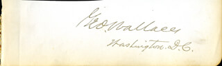 COLONEL GEORGE SELDEN WALLACE - AUTOGRAPH