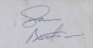 Autographs: SAM BARTRAM - CLIPPED SIGNATURE
