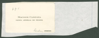 MAURICE CAMPANA - CALLING CARD UNSIGNED