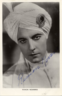 RAMON NOVARRO - PICTURE POST CARD SIGNED