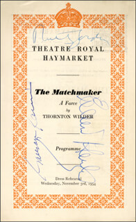 THE MATCHMAKER PLAY CAST - SHOW BILL SIGNED CO-SIGNED BY: EILEEN HERLIE, GARSON KANIN, RUTH GORDON