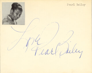 PEARL BAILEY - AUTOGRAPH SENTIMENT SIGNED
