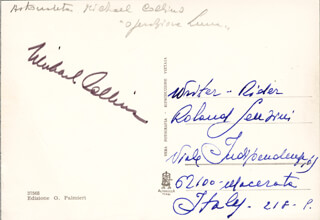 Autographs: BRIGADIER GENERAL MICHAEL COLLINS - PICTURE POST CARD SIGNED