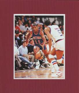 ISIAH L. THOMAS - AUTOGRAPHED SIGNED PHOTOGRAPH