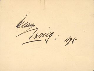 SIR HENRY IRVING - AUTOGRAPH 1878