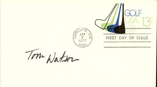 TOM WATSON - FIRST DAY COVER SIGNED