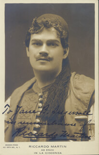 RICCARDO MARTIN - INSCRIBED PICTURE POSTCARD SIGNED