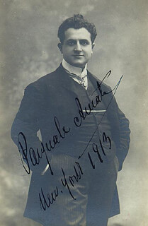Autographs: PASQUALE AMATO - PICTURE POST CARD SIGNED 1913