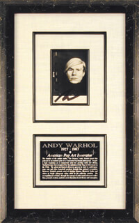 ANDY WARHOL - PICTURE POST CARD SIGNED