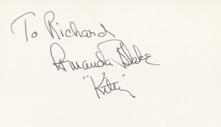 AMANDA MISS KITTY BLAKE - INSCRIBED SIGNATURE