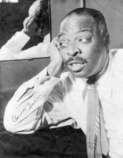 COUNT BASIE - MAGAZINE PHOTOGRAPH SIGNED