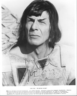 LEONARD NIMOY - PRINTED PHOTOGRAPH SIGNED IN INK