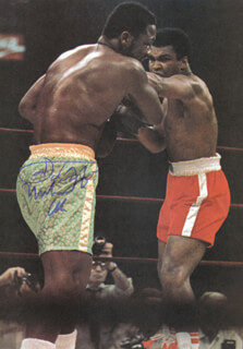 MUHAMMAD THE GREATEST ALI - MAGAZINE PHOTOGRAPH SIGNED CO-SIGNED BY: JOE SMOKIN JOE FRAZIER