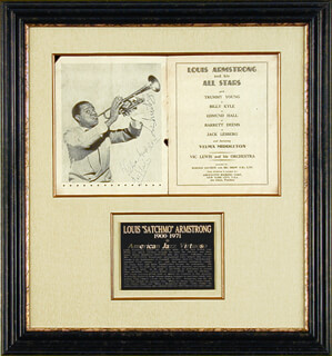 Autographs: LOUIS SATCHMO ARMSTRONG - PROGRAM SIGNED CIRCA 1956 CO-SIGNED BY: VELMA MIDDLETON