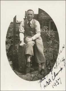 JOSEPH WILBY - AUTOGRAPHED SIGNED PHOTOGRAPH 1937