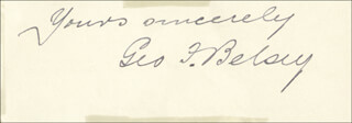 GEORGE F. BELSEY - AUTOGRAPH SENTIMENT SIGNED 04/14/1890