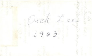 RICHARD DICK LEE - AUTOGRAPHED SIGNED PHOTOGRAPH 1903