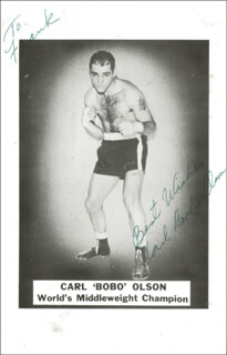 CARL BOBO OLSON - AUTOGRAPHED INSCRIBED PHOTOGRAPH