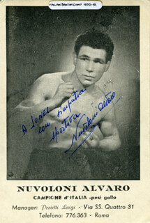 Autographs: NUVOLONI ALVARO - INSCRIBED PRINTED PHOTOGRAPH SIGNED IN INK