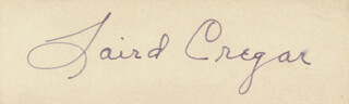 LAIRD CREGAR - CLIPPED SIGNATURE