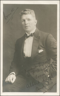 ALBERT KID LLOYD - INSCRIBED PICTURE POSTCARD SIGNED