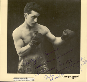 EUGENE LORENZONI - AUTOGRAPH NOTE ON PHOTOGRAPH UNSIGNED CIRCA 1933