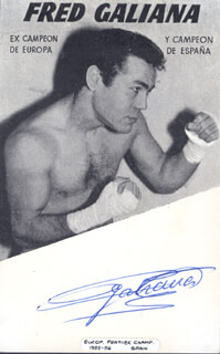 FRED GALIANA - AUTOGRAPHED SIGNED PHOTOGRAPH