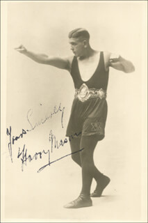 HARRY MASON - AUTOGRAPHED SIGNED PHOTOGRAPH