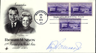 Autographs: ASSOCIATE JUSTICE WILLIAM J. BRENNAN JR. - INAUGURAL COVER SIGNED