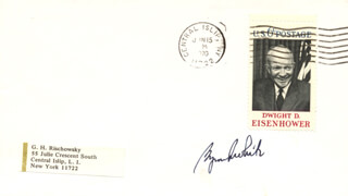 ASSOCIATE JUSTICE BYRON R. WHITE - ENVELOPE SIGNED