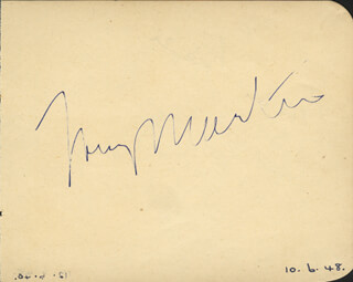 TONY MARTIN - AUTOGRAPH CIRCA 1948 CO-SIGNED BY: BUSTER SHAVER