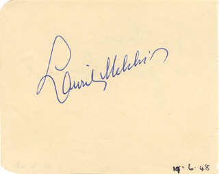 LAURITZ MELCHIOR - AUTOGRAPH CIRCA 1948 CO-SIGNED BY: JACK DURANT