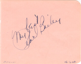 PEARL BAILEY - AUTOGRAPH SENTIMENT SIGNED 06/26/1948 CO-SIGNED BY: PAMELA BROWN