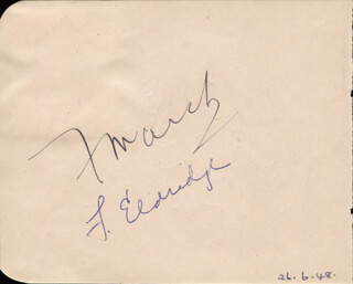 FREDRIC MARCH - AUTOGRAPH CO-SIGNED BY: FLORENCE ELDRIDGE, JOSEPH CALLEIA