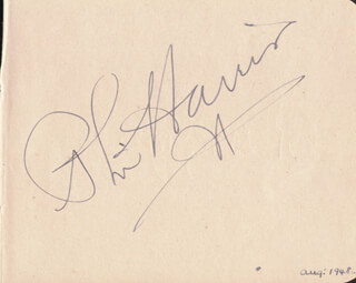 PHIL HARRIS - AUTOGRAPH CIRCA 1948 CO-SIGNED BY: BARRY MORSE