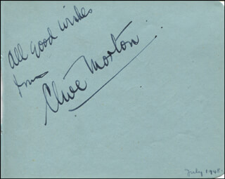 CLIVE MORTON - AUTOGRAPH SENTIMENT SIGNED CIRCA 1948 CO-SIGNED BY: ANNA TURNER