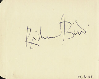 RICHARD BIRD - AUTOGRAPH CIRCA 1948 CO-SIGNED BY: MARGALO GILLMORE