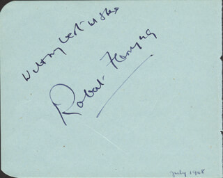 ROBERT FLEMING - AUTOGRAPH SENTIMENT SIGNED CIRCA 1948 CO-SIGNED BY: KATHLEEN MICHAEL