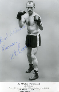 AL ROCCA - AUTOGRAPHED INSCRIBED PHOTOGRAPH