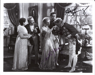 HOUSE OF ROTHSCHILD MOVIE CAST - AUTOGRAPHED SIGNED PHOTOGRAPH CO-SIGNED BY: LORETTA YOUNG, ROBERT YOUNG