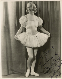 GEORGE LACEY - AUTOGRAPHED INSCRIBED PHOTOGRAPH 1936